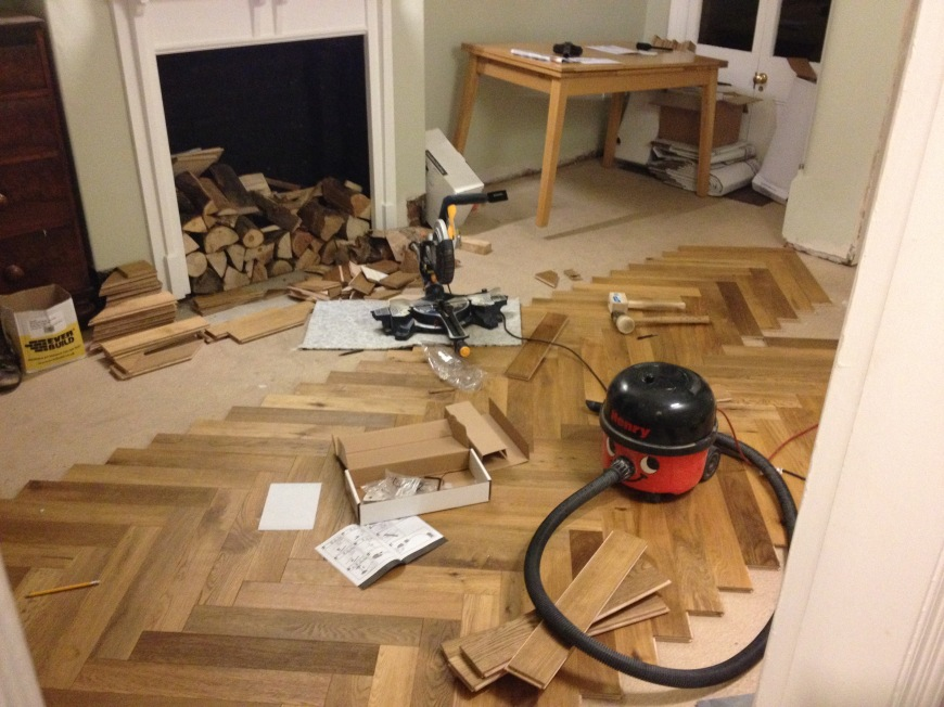 sawing the floor, fitting the floor